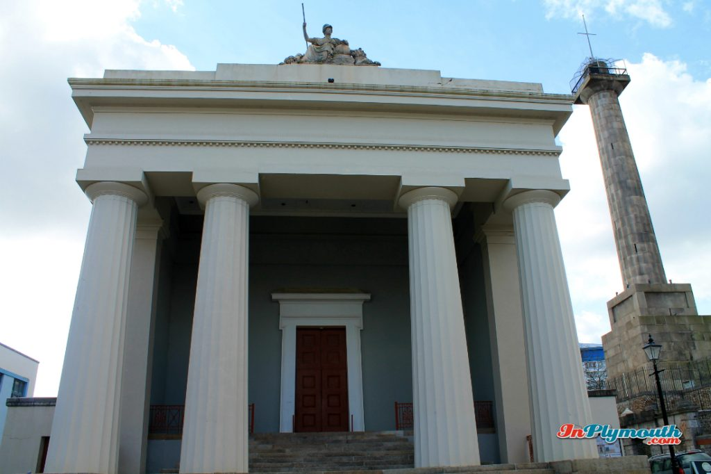 Devonport Guildhall and Column March 2015