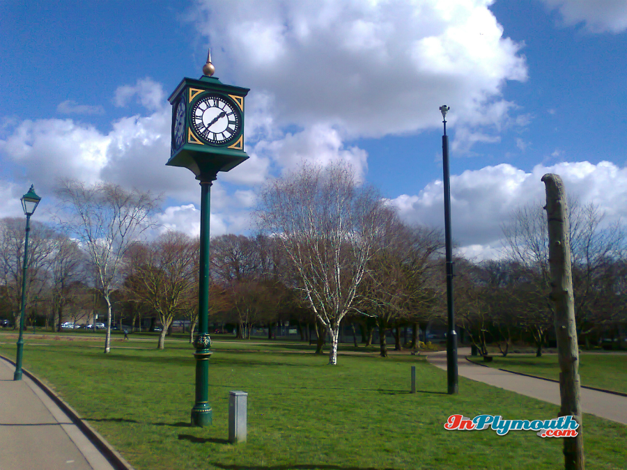 Clock in Devonport Park March 2015